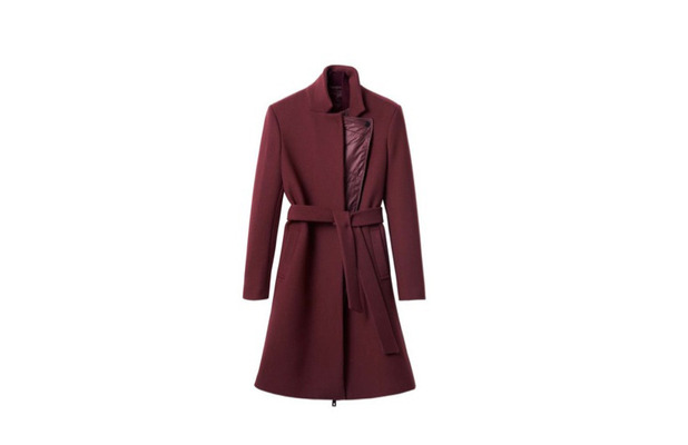 Aubergine belted jacket from the H&M Autumn/Winter Collection 27th August 2015