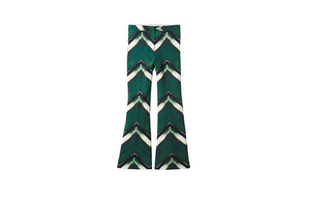 Green chevron print trousers from the H&M autumn/winter collection £49.99