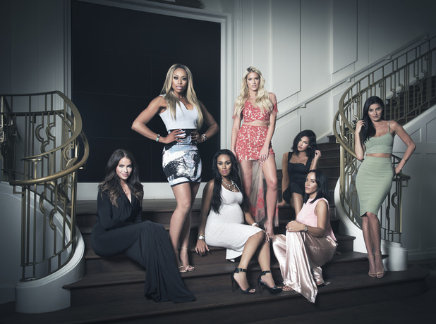 Cast members of the new reality tv show E! WAGS, 2015