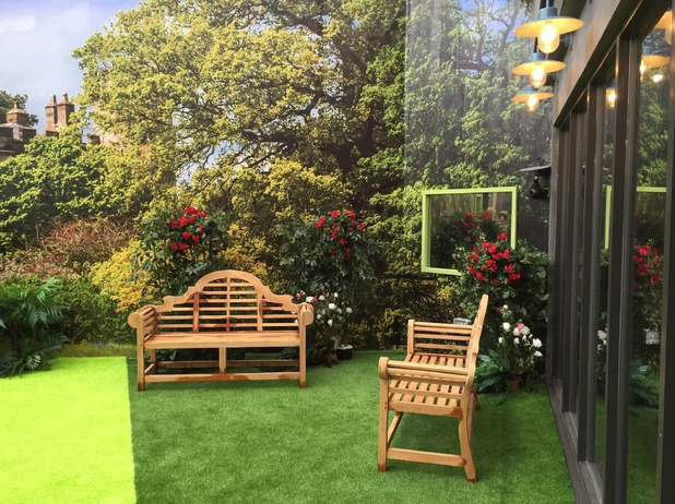 Reveal tour the Celebrity Big Brother house - Garden - 24 August 2015.