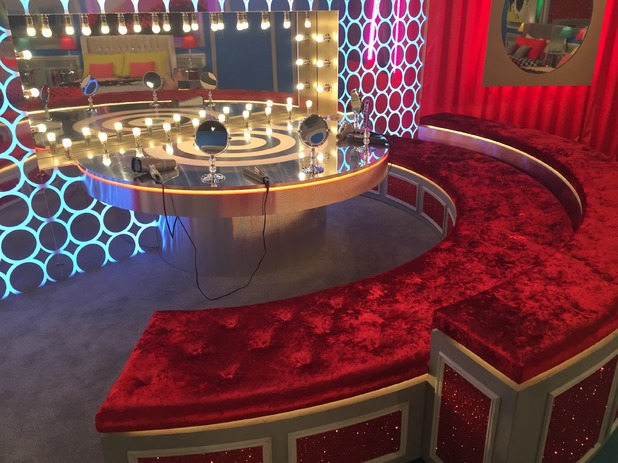 Reveal tour the Celebrity Big Brother house - Bedroom dressing area - 24 August 2015.