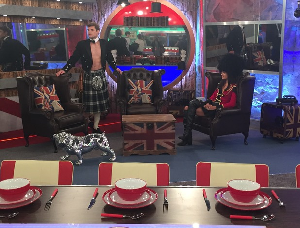 Reveal tour the Celebrity Big Brother house - living room - 24 August 2015.