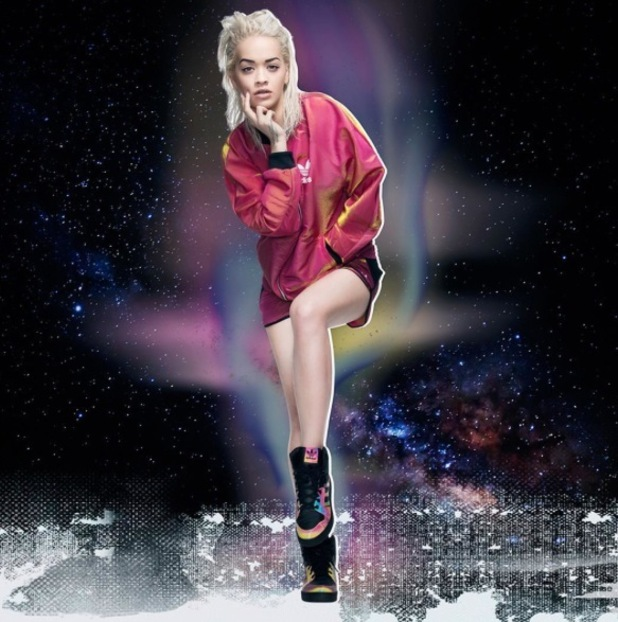 Rita Ora models her new collection with Adidas Originals 25th August 2015