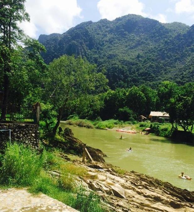 Tubing in Vang Vieng, Laos, 30/8/15