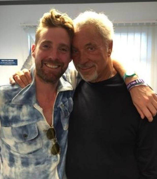 Sir Tom Jones and Ricky Wilson at V Festival, Twitter 25 August