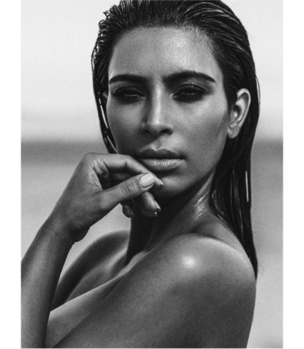 Kim Kardashian poses on outdoor shoot for C Magazine 28th August 2015