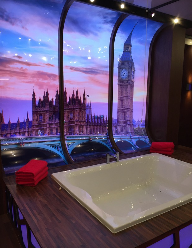 Reveal tour the Celebrity Big Brother house - Bathroom - 24 August 2015.