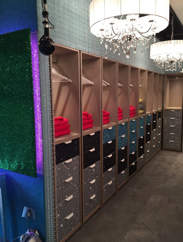 Reveal tour the Celebrity Big Brother house - Bedroom storage - 24 August 2015.