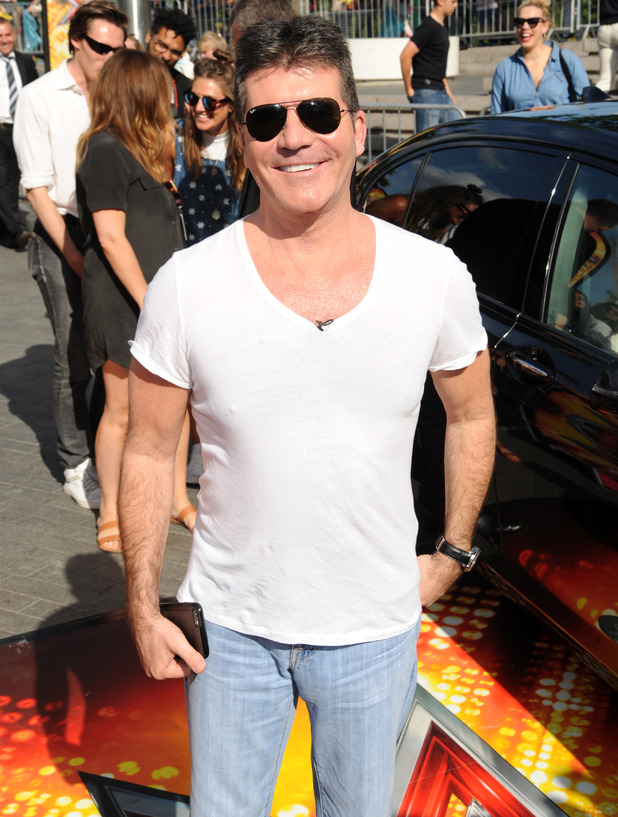 Simon Cowell X Factor 2015 London Auditions held at Wembley Arena 21 July
