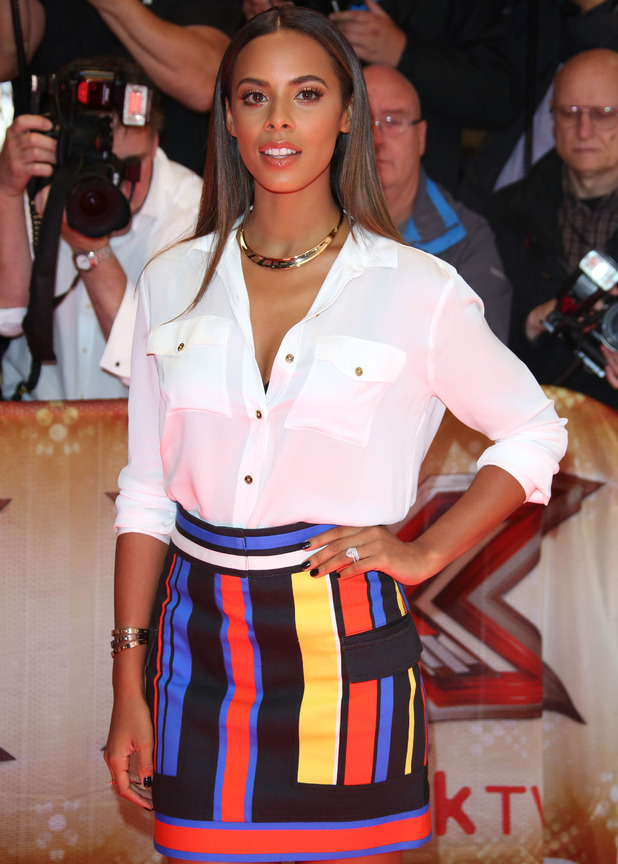 Rochelle Humes attends The X Factor Launch, London 27 August