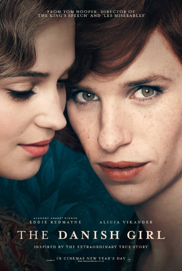 Eddie Redmayne and Alicia Vikander in first poster for The Danish Girl, 27th August 2015