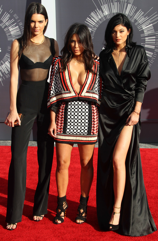 Kim Kardashian, Kylie Jenner and Kendall Jenner at the MTV VMA's 2014, 28th August 2015