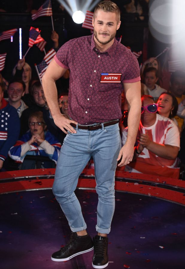 Austin Armacost Celebrity Big Brother launch show, 27 August 2015