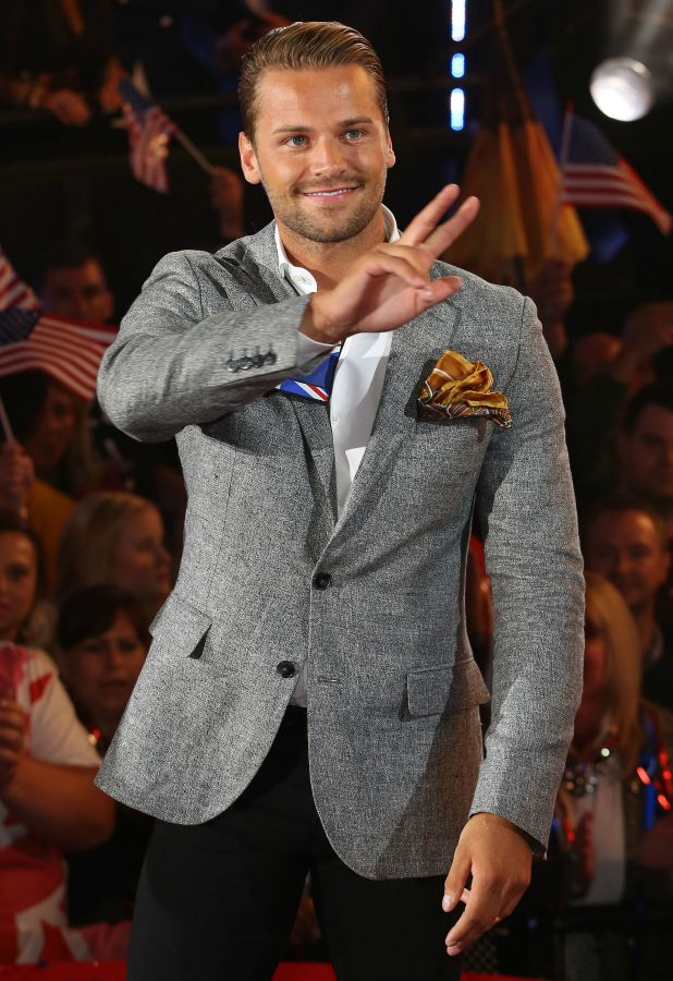 James Hill Celebrity Big Brother launch show, 27 August 2015