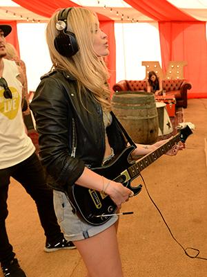 Guitar Hero Live at Virgin Media's Louder Lounge Laura Whitmore
