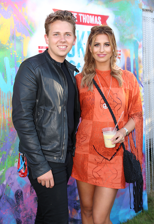 TOWIE's Ferne McCann with Luke Thomas at V Festival 22 August 2015