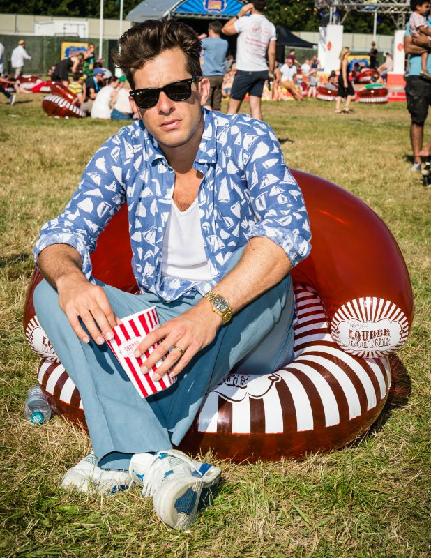Mark Ronson in the Virgin Media Louder Lounge at V Festival, Chelmsford 22 Aug 2015