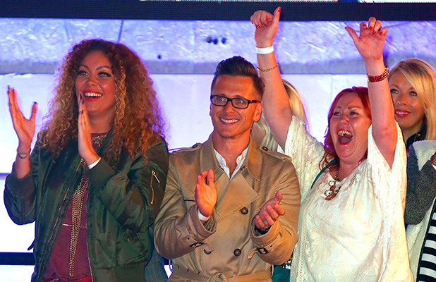 Celebrity Big Brother: UK vs USA' TV show, Elstree Studios, Hertfordshire, Britain - 27 Aug 2015 Ritchie Neville with Natasha Hamiltons mother and sister