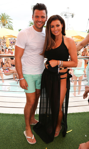 Jessica Wright and Mark Wright at Ocean Beach in Ibiza, 30 August 2015