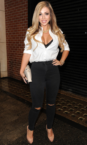 Holly Hagan attends the Jeans For Genes party in London 2 September