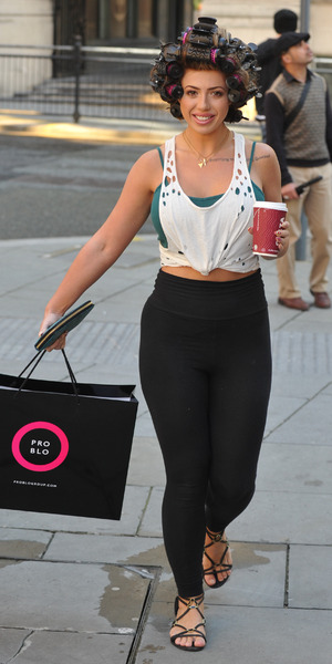 Holly Hagan spotted with hair in rollers 1 September