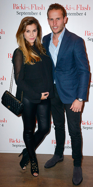 Imogen Thomas (L) and Adam Horsley attend the Screening Gala of 'Ricki and The Flash' at Ham Yard Hotel on September 3, 2015 in London, England. (Photo by Dave J Hogan/Getty Images)