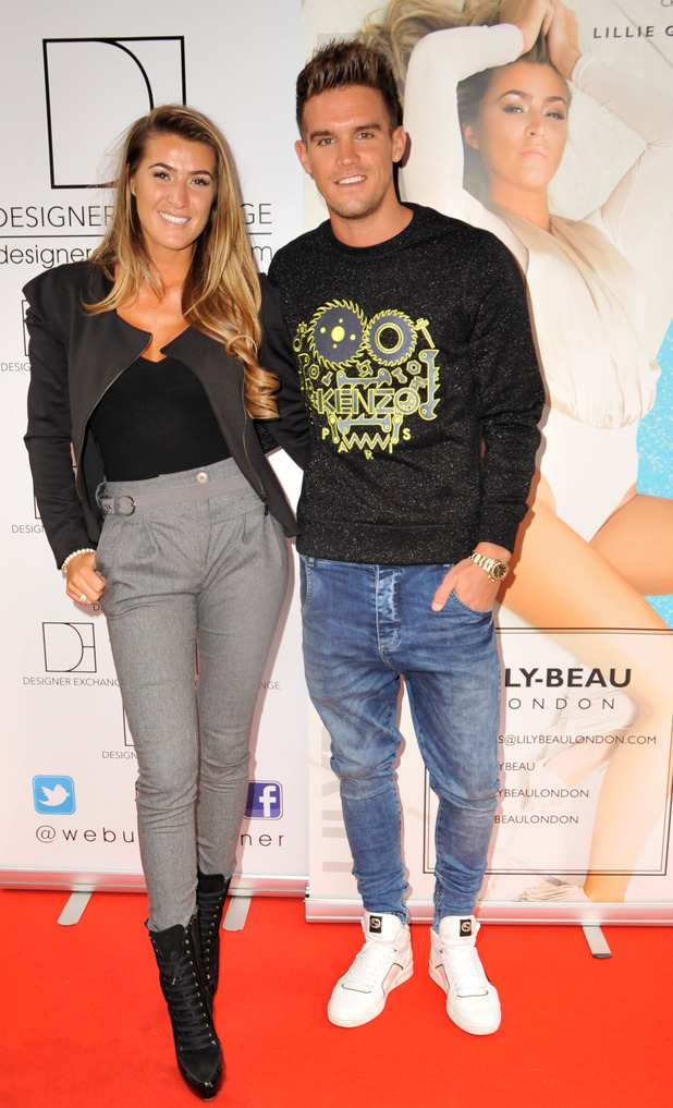 Lillie Lexie Gregg and Gary Beadle attend Lily-Beau London Fashion Launch at the London Design Exchange. A fashion range designed by Lillie Gregg, 1st September 2015