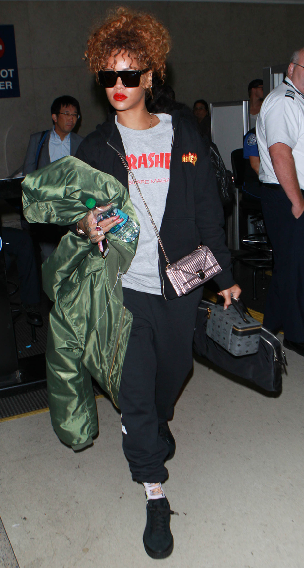 Rihanna seen at L.A.X Airport in Los Angeles, 2nd September 2015