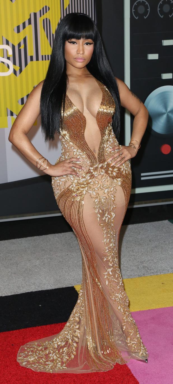 Nicki Minaj seen arriving at the MTV VMAs 1st September 2015