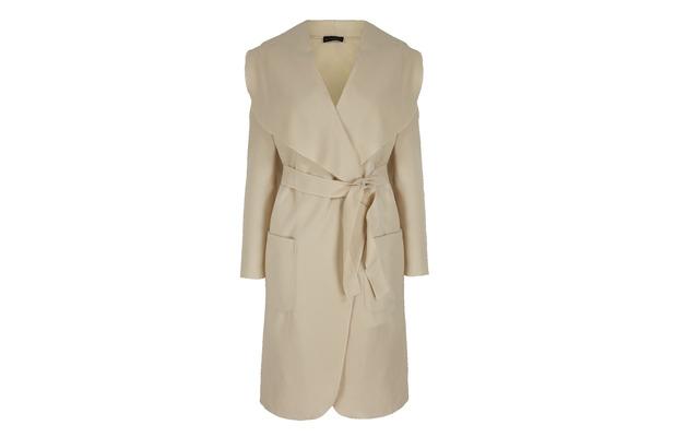 Cream jersey coat £45, Stacey Solomon for Oli.co.uk 2nd September 2015