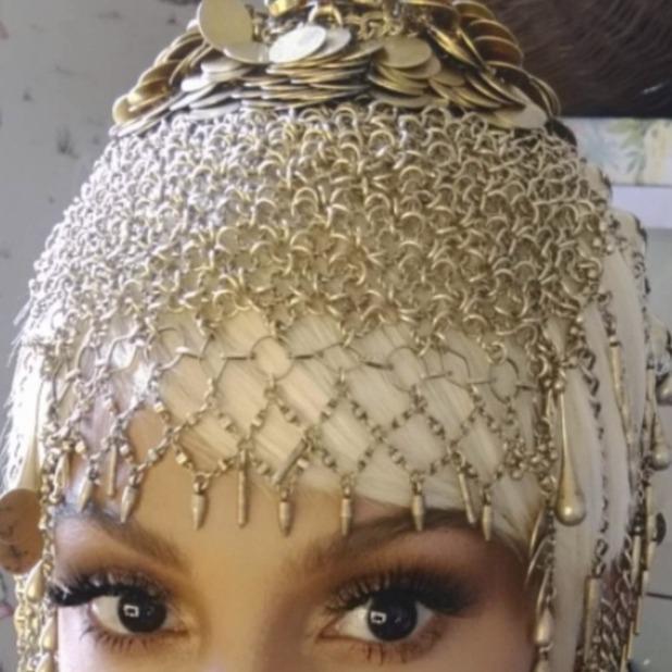 Alesha Dixon rocks white blonde wig on set of photoshoot to promote new singe 'Tallest Girl', 4 September 2015