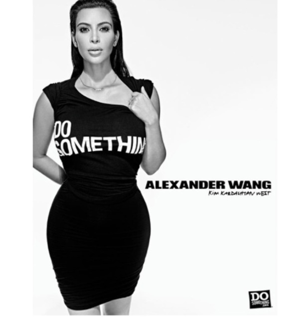 Kim Kardashian models for Alexander Wang's DoSomething charity campaign 2nd September 2015