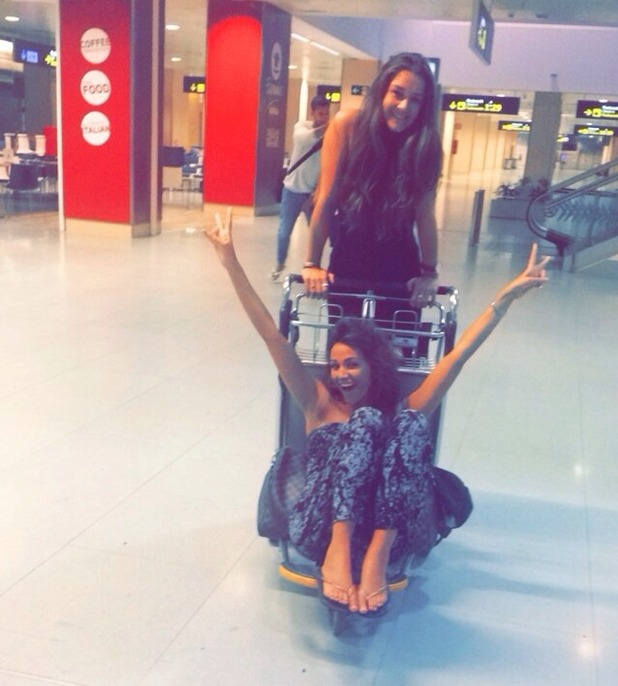 Brooke Vincent's blog - airport snap with Michelle Keegan as the pair headed to Ibiza, September 2015