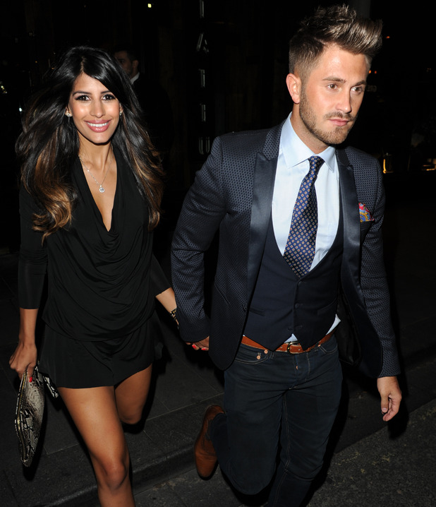 Jasmin Walia and Ross Worswick leave their hotel and head for a night out at The Oxford Club,Tattu and Bijou in Manchester - 5 Sep 2015