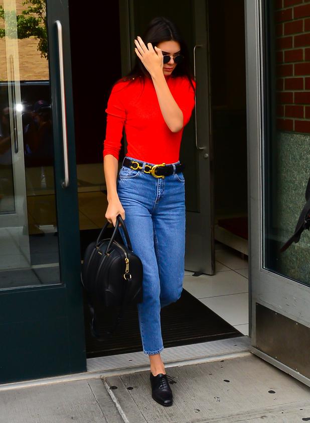 Kendall Jenner is seen walking in Soho in New York City, on September 2, 2015