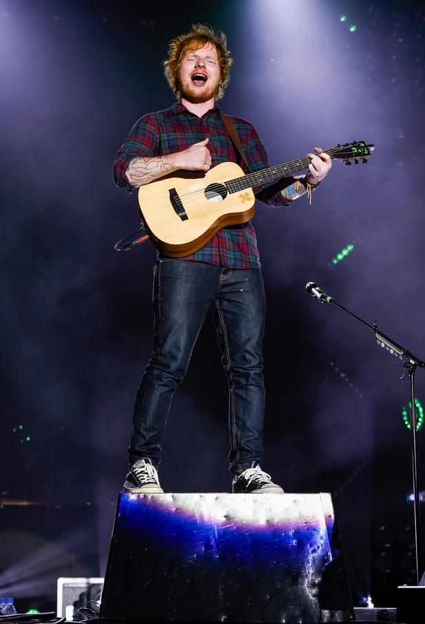 Ed Sheeran at Fusion Festival 2015 at Cofton Park in Birmingham - Day 1 - 28 August 2015.
