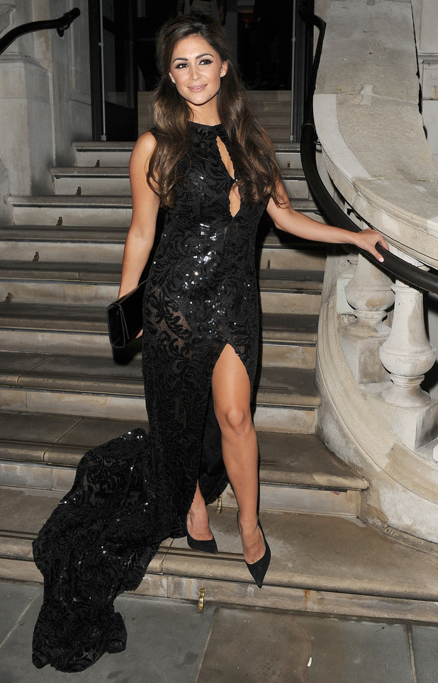 Casey Batchelor on her way to the Inspiring Leadership Gala & Fashion Show, 3rd September 2015