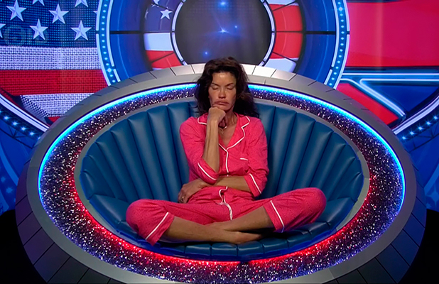 Celebrity Big Brother, Broadcast on Channel 5 HD Janice in the Diary Room being given a warning