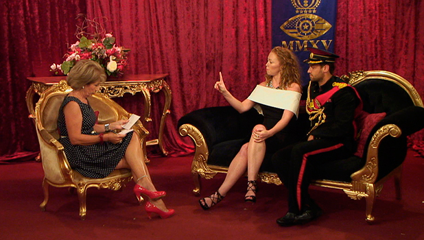 Celebrity Big Brother, Day 7 grabs Jennie Bond interviews Natasha and James
