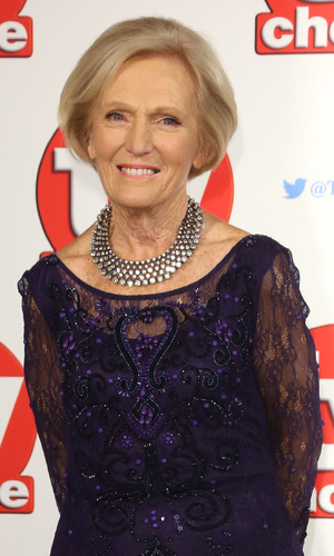 Mary Berry at the 2015 TV Choice Awards held at the Hilton Park Lane. 7 September 2015.