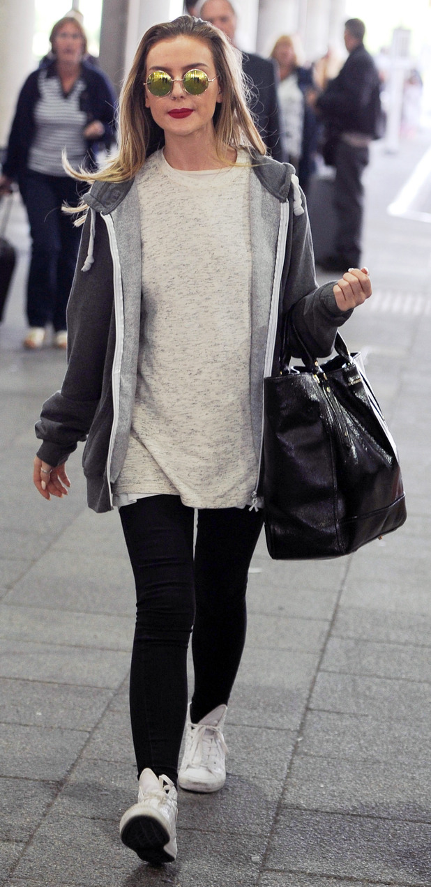 Little Mix's Perrie Edwards at Gatwick Airport, 7th September 2015
