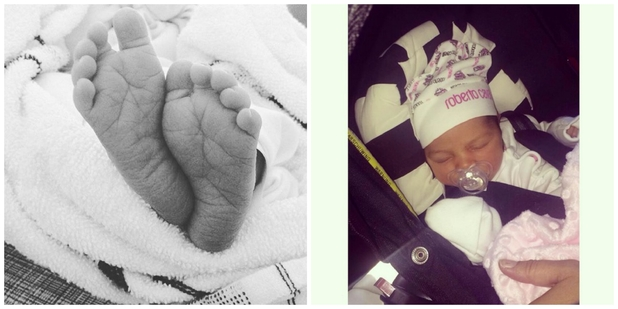 The Valley's star Lateysha Grace gives birth to Wynter Anna Grace Charles, 10th September 2015