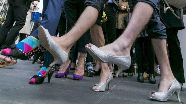 A third of Brit men want to wear skirts to work - men wearing heels