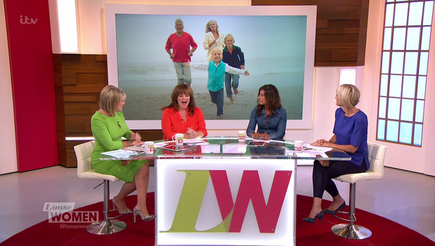 Loose Women. Broadcast on ITV1 HD - 7 September 2015.