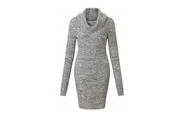 Michelle Keegan launches new winter collection, knitted grey dress £45 10th September 2015