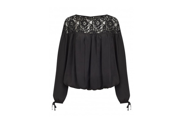 Michelle Keegan launches new winter collection, black lace top £35, 10th September 2015