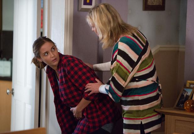 EastEnders: Lauren Branning's waters break as she visits Jane. Airs 17 September 2015.