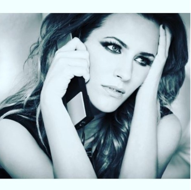 Caroline Flack wears long brown extensions on photo-shoot, 8th September 2015