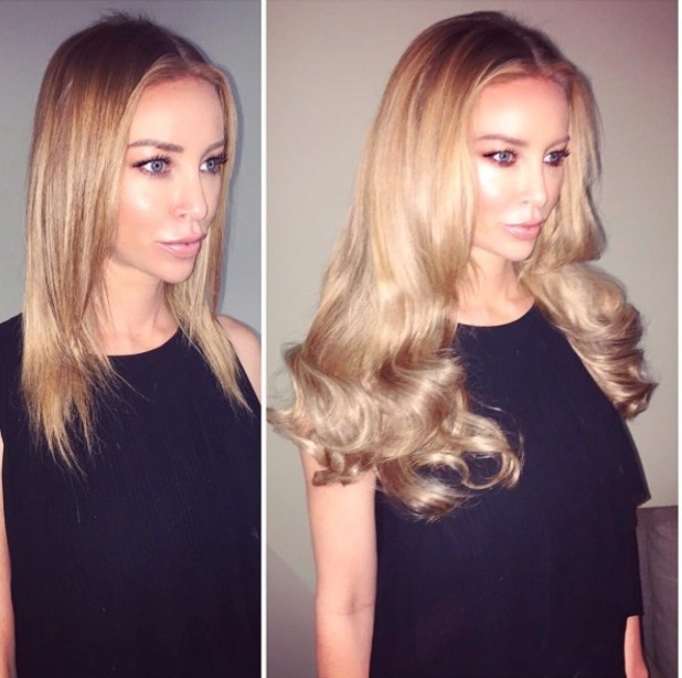 TOWIE's Lauren Pope shares a picture of her extensions from Hair Rehab London, 9th September 2015