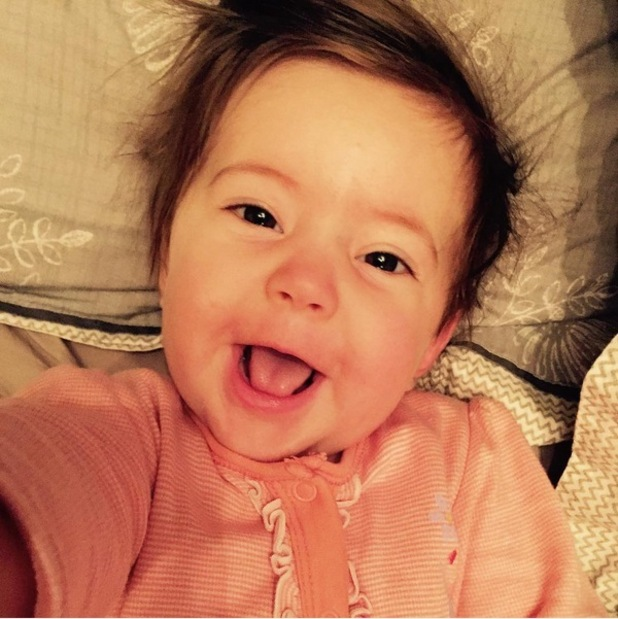 Jacqueline Jossa shares cute new photo of baby daughter Ella taking a selfie - 9 September 2015.